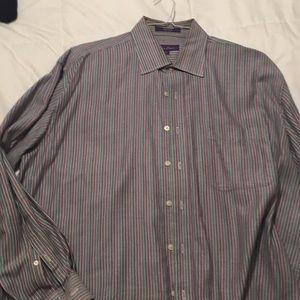 Men's xl long sleeve free shirt multi stripe